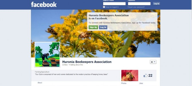The Huronia Beekeeper's Association has joined facebook!
