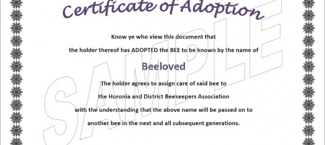 Adopt-a-bee
